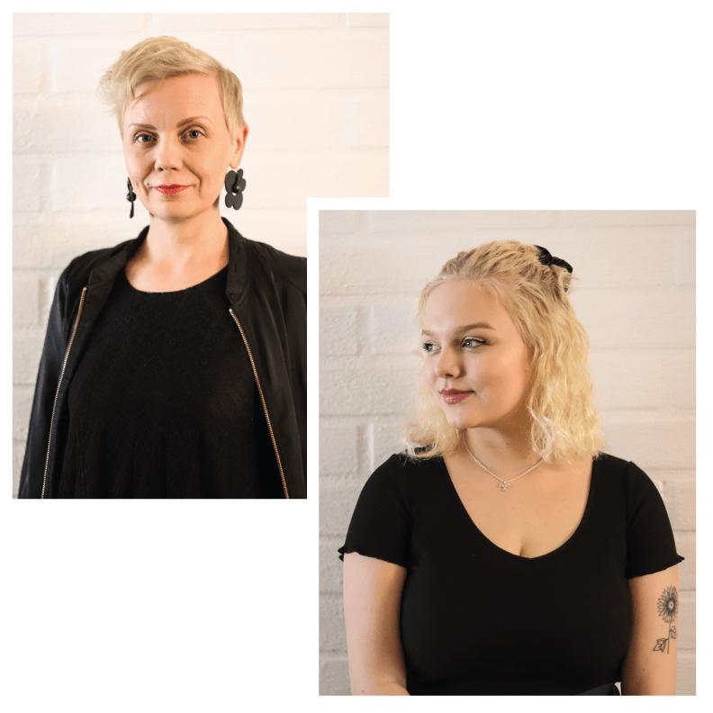 Lea Pennanen ja Mimmi Riikonen ovat Kustannus Z:n perustajat.